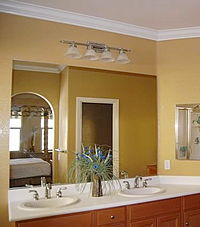 Crown Moulding in Bathroom